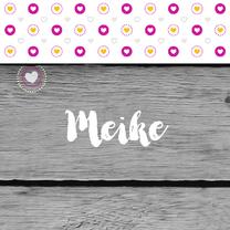 Geboortekaartjes - Geboren hartjes iconen meisje