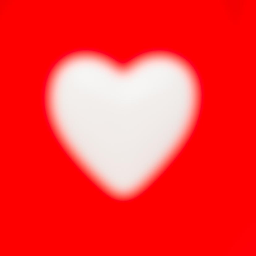 Gebroken hart - op rood 2