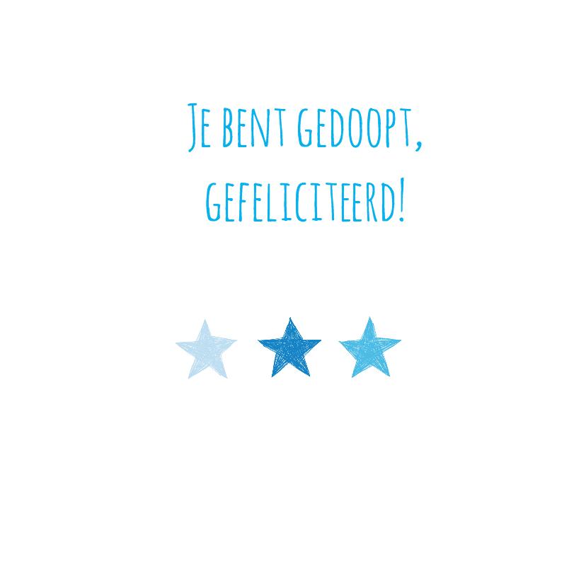 Gedoopt blauwe sterren en hart 3