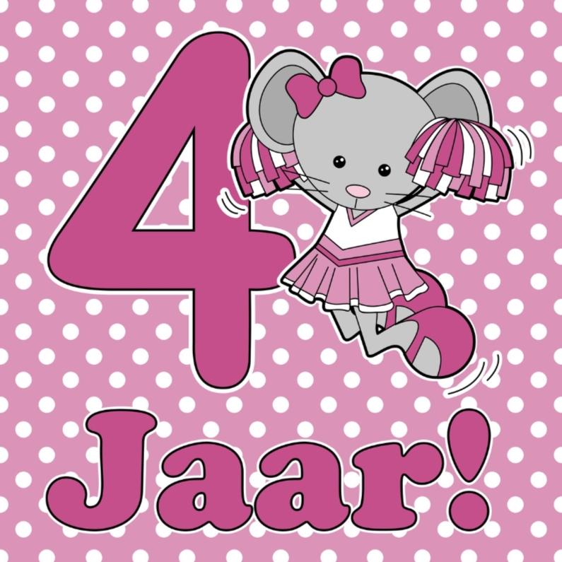 Gefeliciteerd 4 jaar verjaardagskaarten kaartje2go for Poppenhuis kind 2 jaar