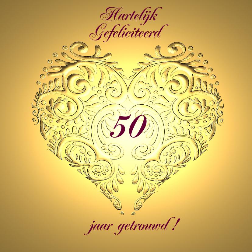 Gefeliciteerd jr jubileum gouden hart