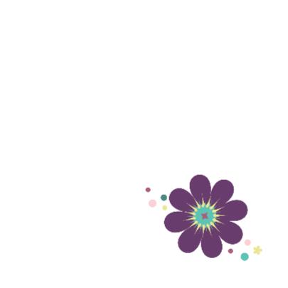 Gefeliciteerd bloemenillustratie 2