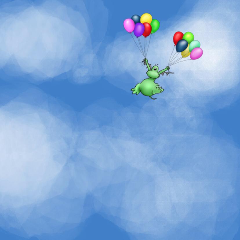 Gefeliciteerd - draakje poef ballonnen 3
