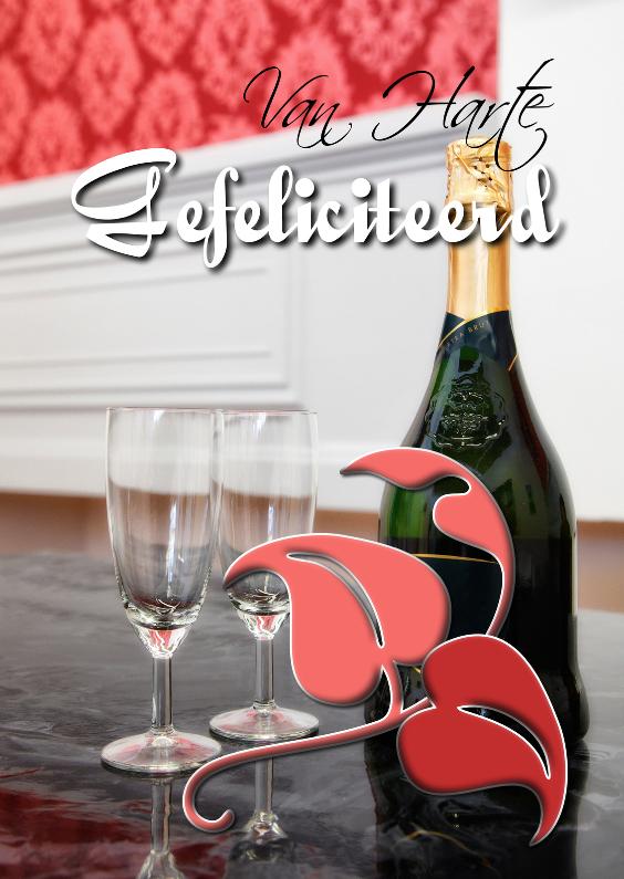 gefeliciteerd met champagne