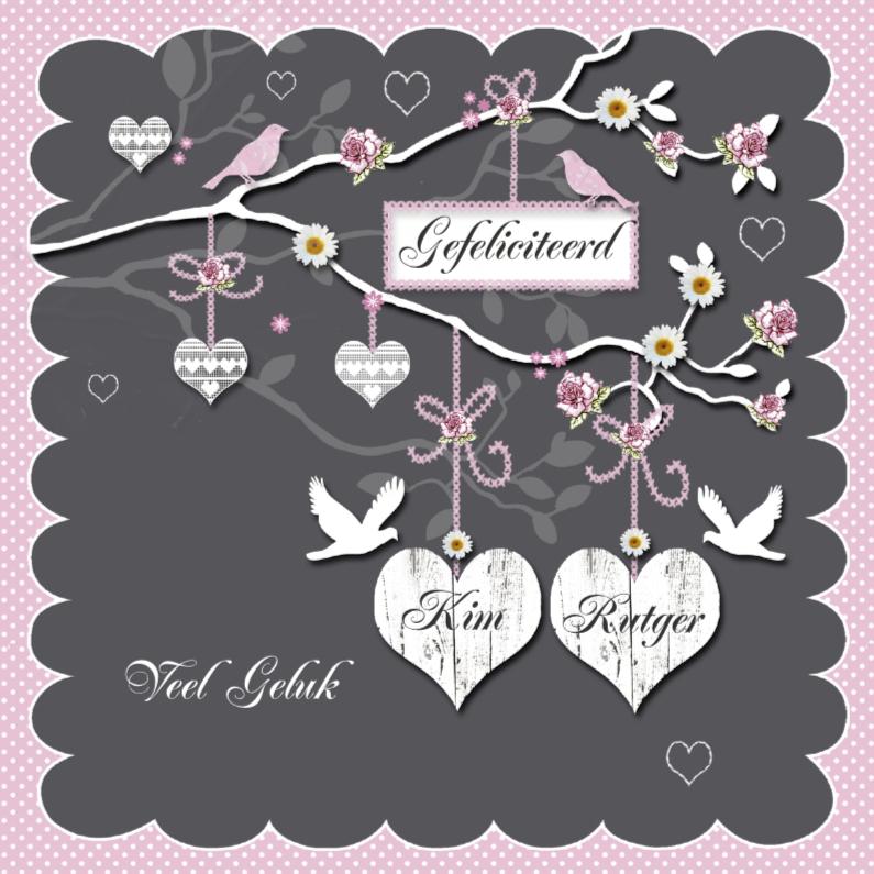gefeliciteerd met het huwelijk Gefeliciteerd met jullie huwelijk harten | Kaartje2go gefeliciteerd met het huwelijk