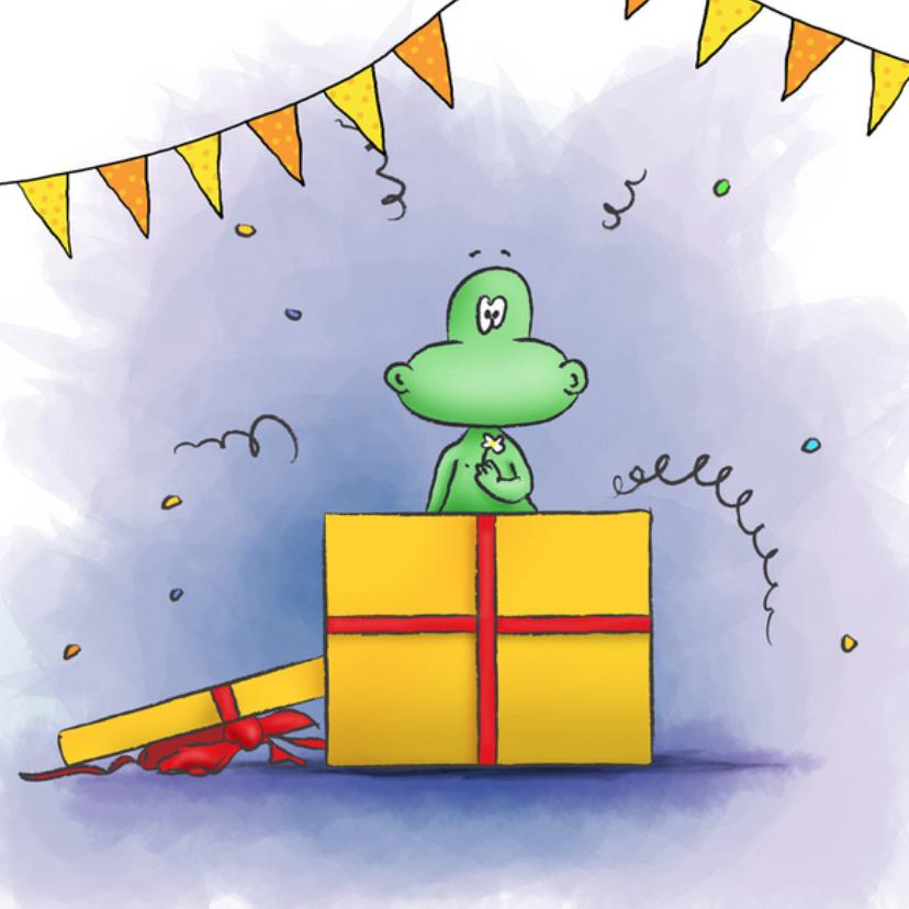Gefeliciteerd - Poef uit cadeau 3