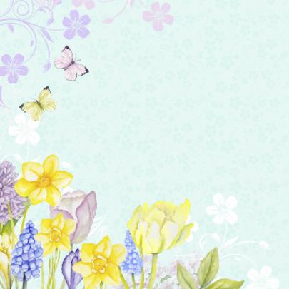 Gefeliciteerd vogelhuis bloemen 2
