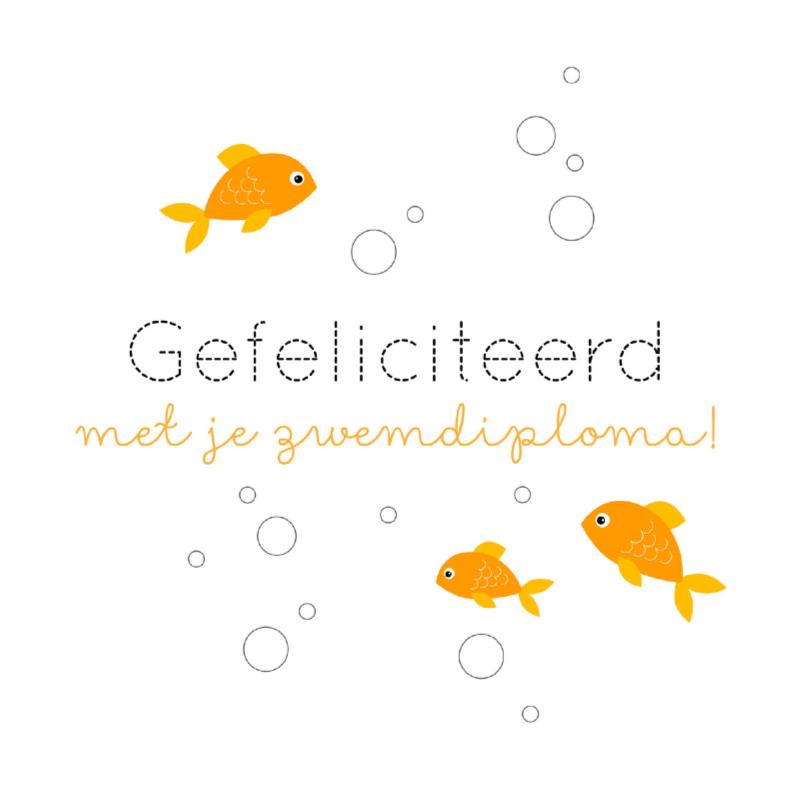 gefeliciteerd vis Gefeliciteerd zwemdiploma vis | Kaartje2go gefeliciteerd vis