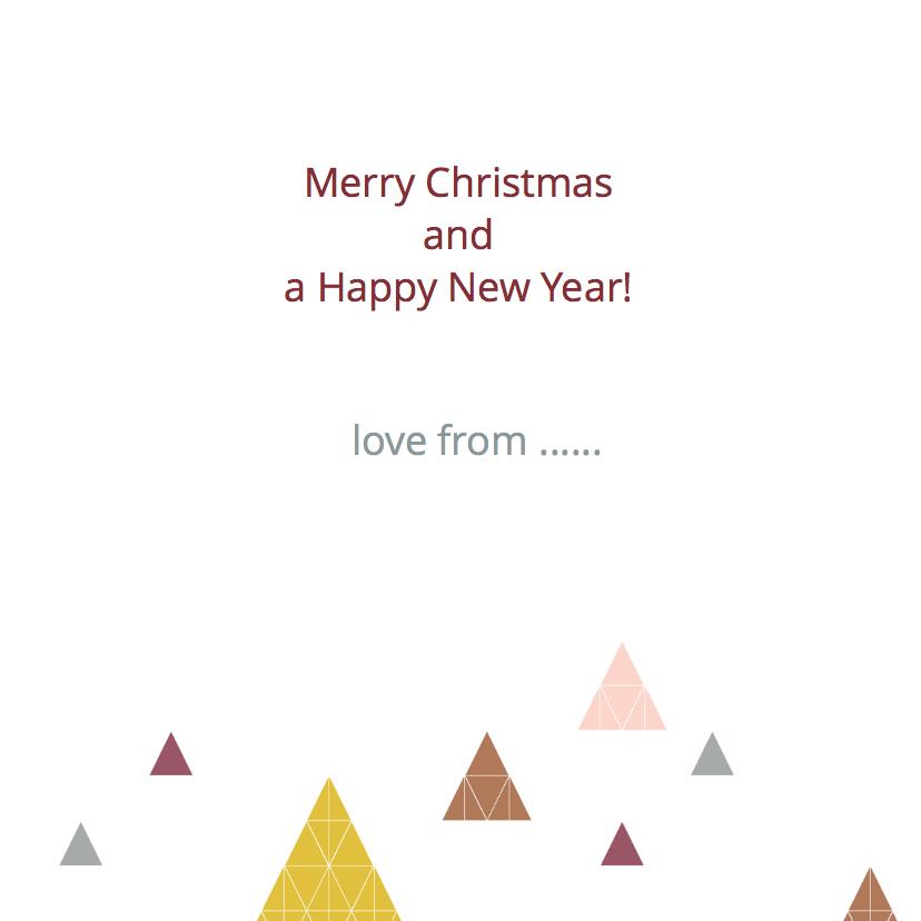 Geometrische kerstbomen oker 3