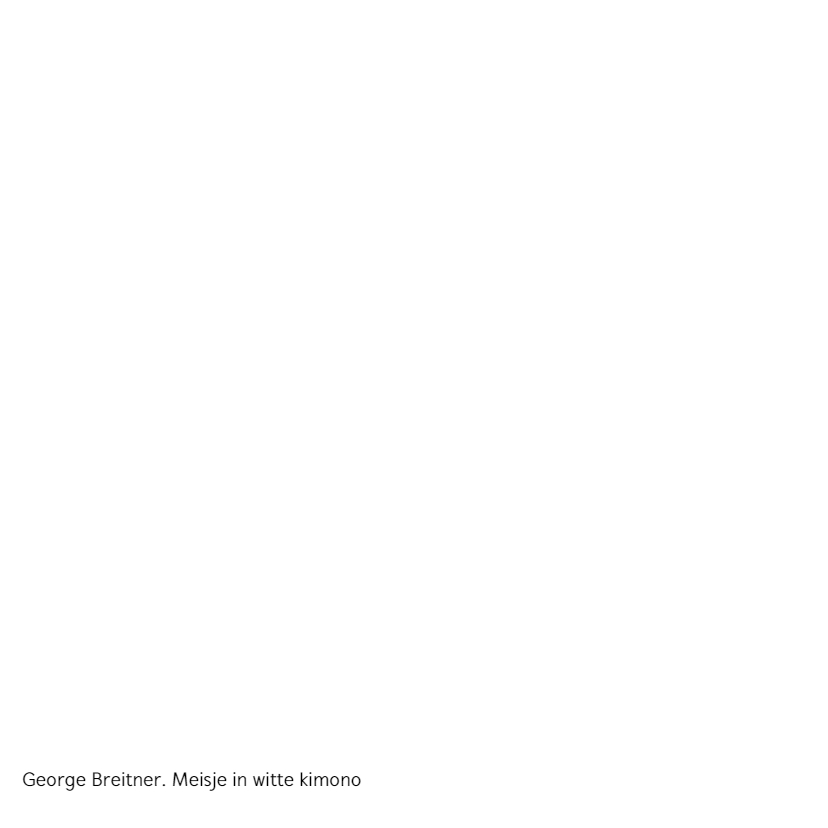 George Breitner. Meisje in witte kimono 2