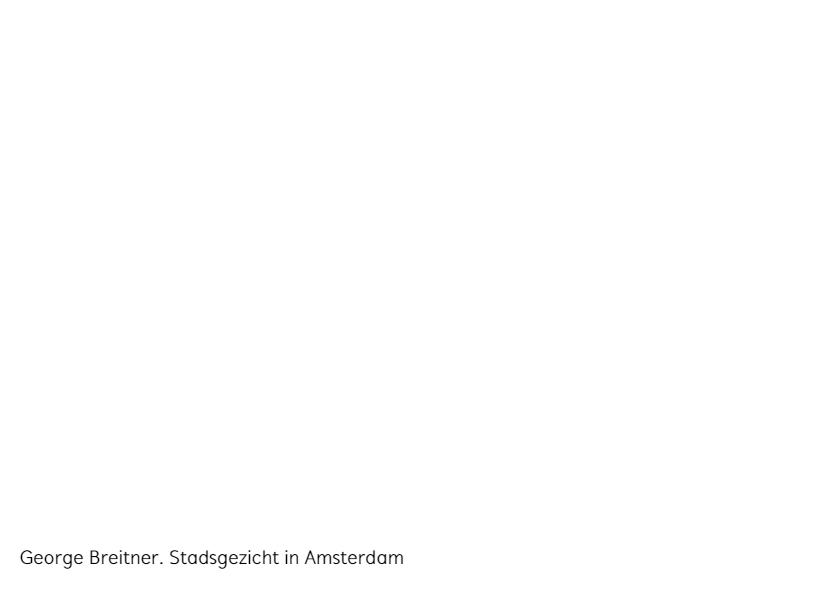 George Breitner. Stadsgezicht in Amsterdam 3