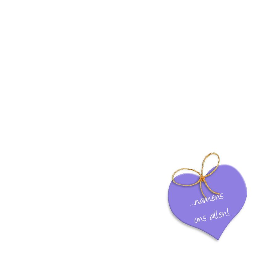 Geraniums in mand met hart Beterschap 3