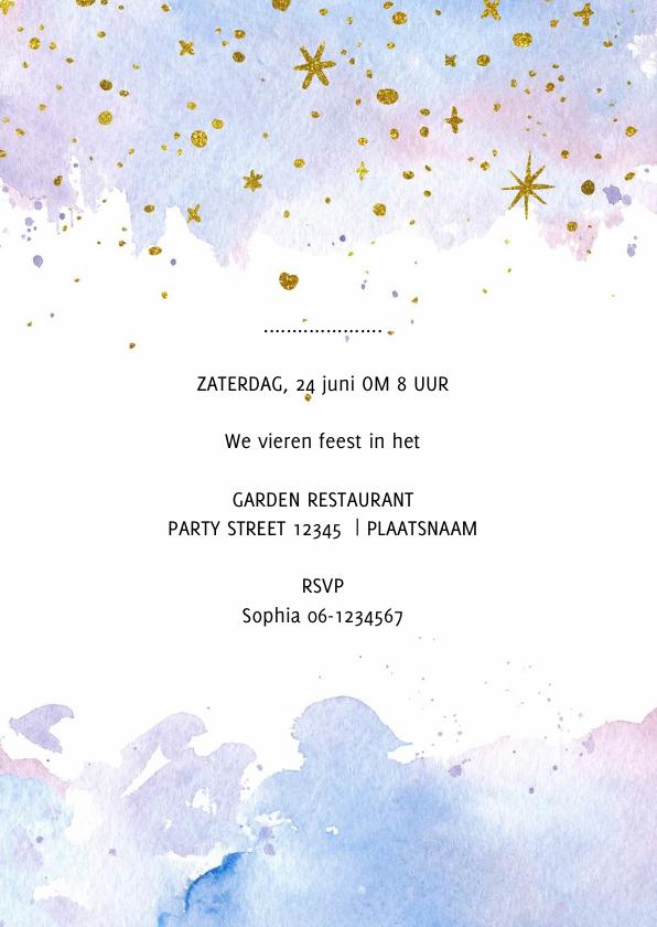 Geslaagd kaart meisje feestje 3