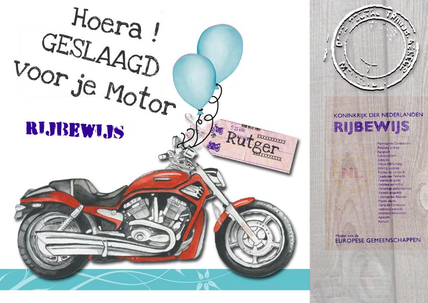 Geslaagd Motorrijbewijs Geslaagd Kaarten Kaartje2go