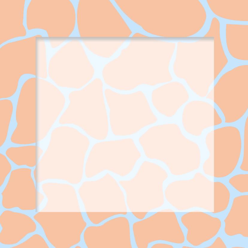 Geslaagdkaart giraffeprint  3