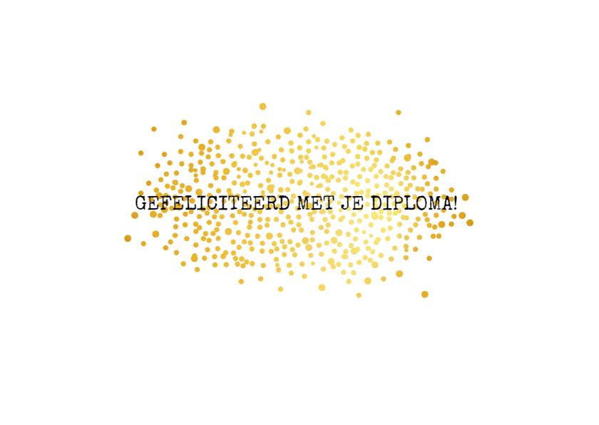 Geslaagdkaart golden confetti  2