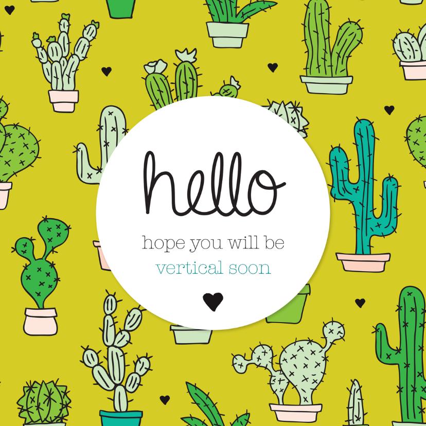 Get well soon cactus