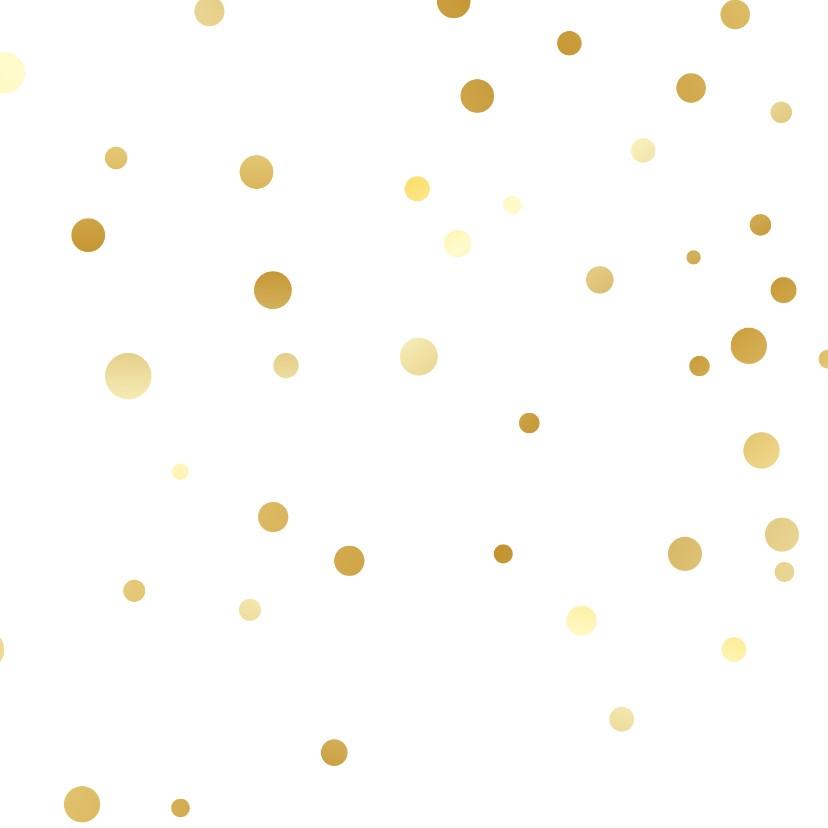 Getrouwd datum in zwart/goud 2