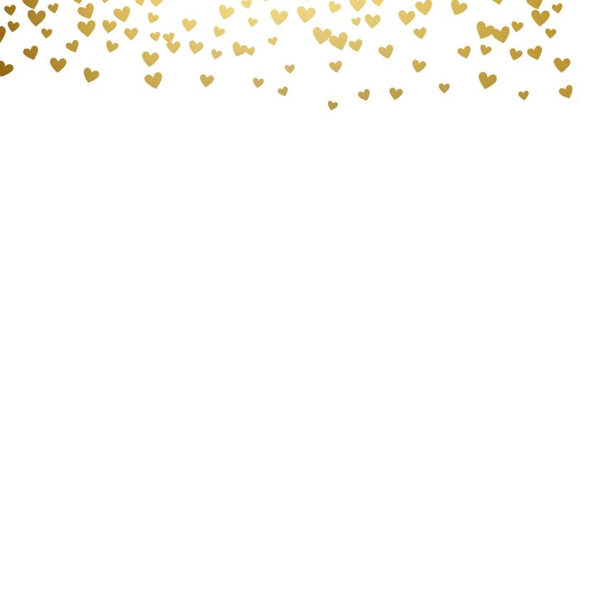 Getuige kaart met gouden hartjes regen 2