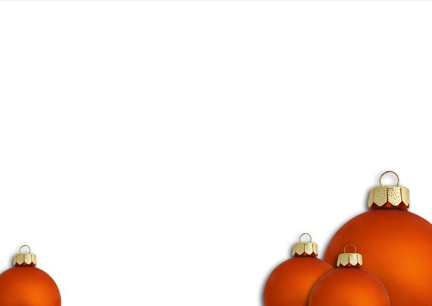 Gezellige Kerst Oranje Kerstbal 3