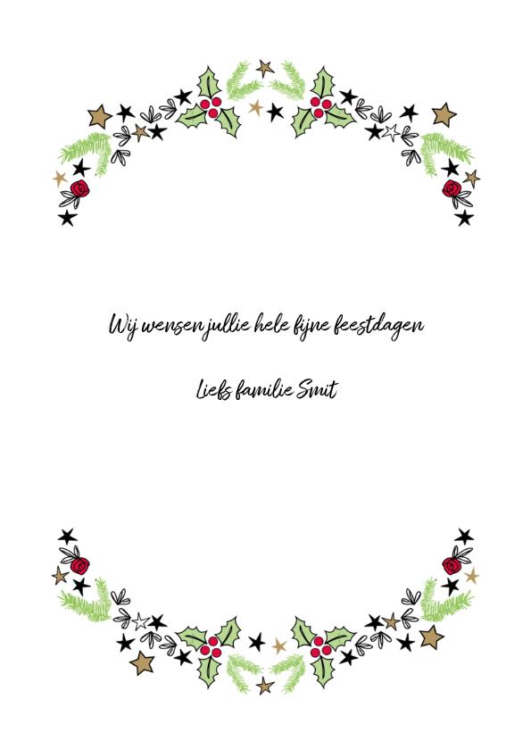 Gezellige kerstdagen & Gelukkig nieuwjaar witte achtergrond 3