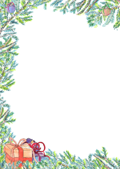 Gezellige kerstkaart met boom 2