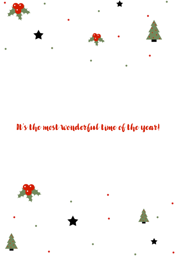 Gezellige kerstkaart met kersticonen 2