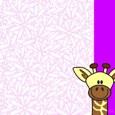 Giraf met grote bos bloemen 3