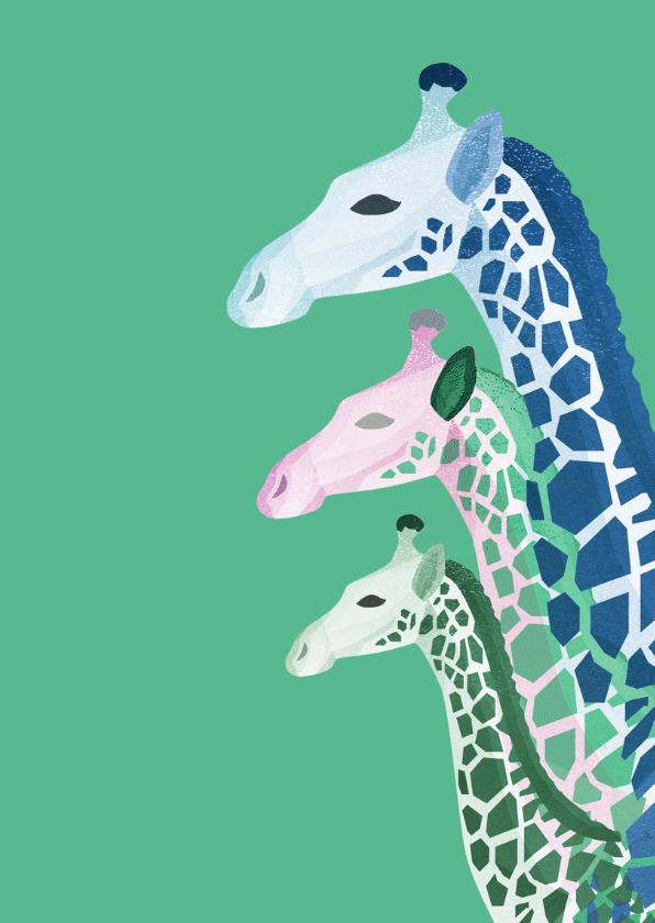 Giraffes verjaardagskaart 2