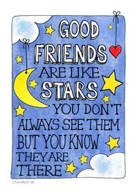 Vriendschap kaarten - Good friends are like stars - SD