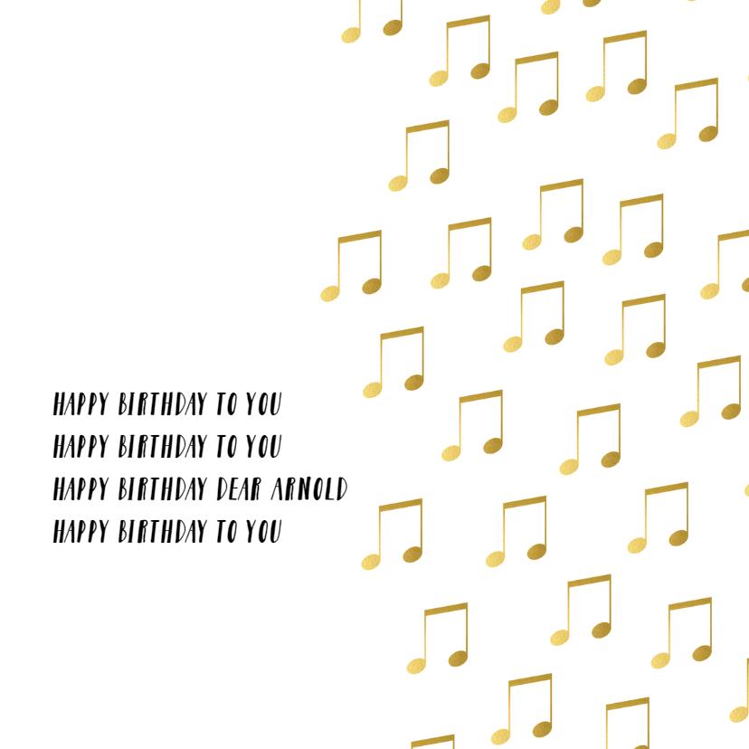 Gouden muziekkaart verjaardag 2
