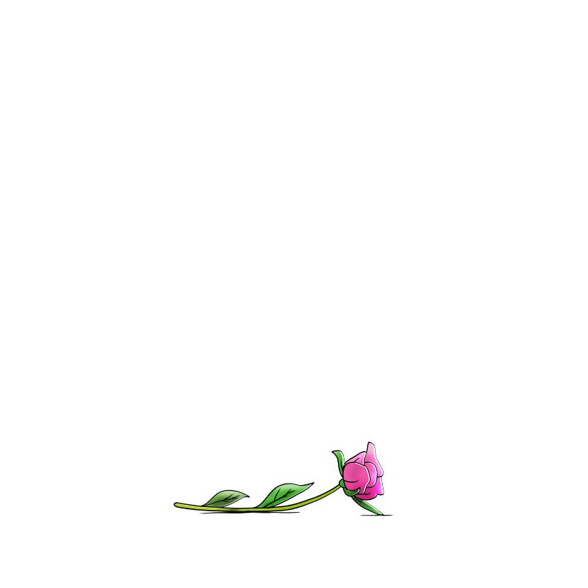 grappige beterschapskaart opkikker met bos bloemen 2