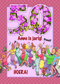 verjaardag 50 jaar vrouw Grappige verjaardag polonaise voor een vrouw 50 | Kaartje2go verjaardag 50 jaar vrouw
