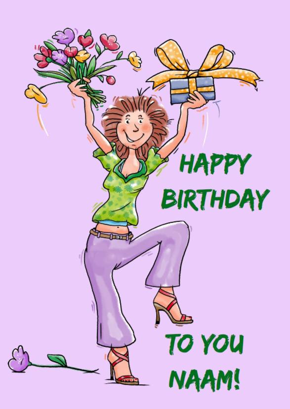 Cartoon Verjaardag Vrouw.Gefeliciteerd Vrouw Grappig Pxw01 Bitlion