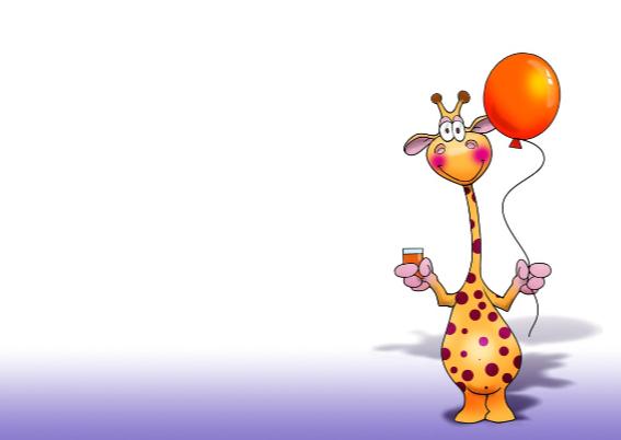 Grappige verjaardagskaart giraffen komen uit een doos 3
