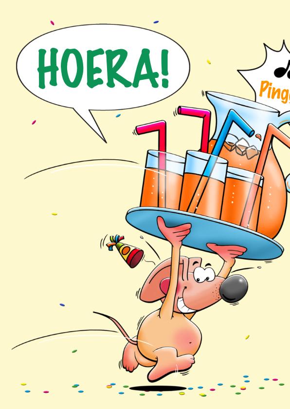 Grappige verjaardagskaart Hieper de piep muis 2