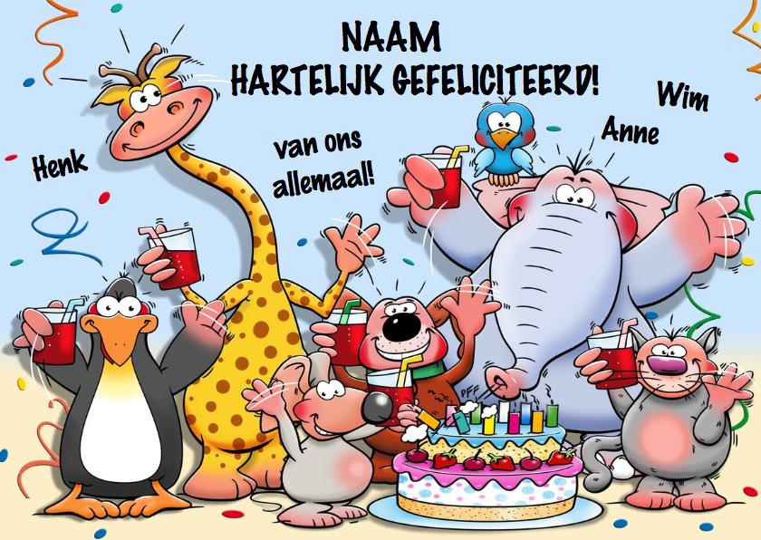 Populair Grappige verjaardagskaart horen zien en krijgen  @FT08