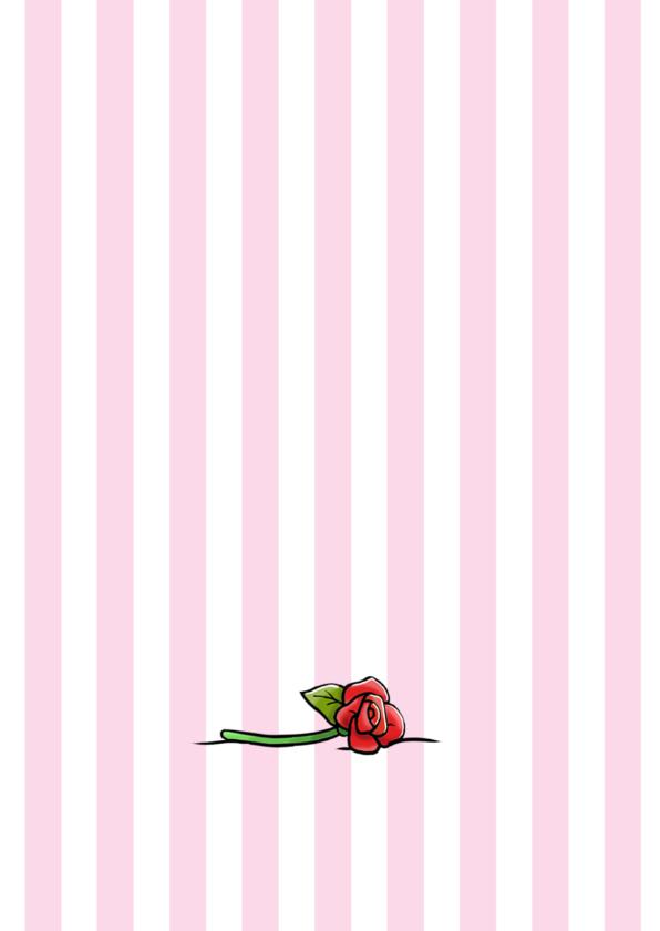 Grappige verjaardagskaart met juichende poezen en bos rozen 2