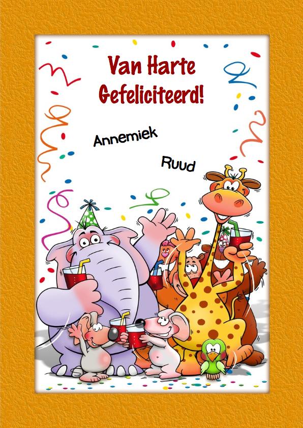 Grappige verjaardagskaart voor kind dat 1 jaar wordt 3