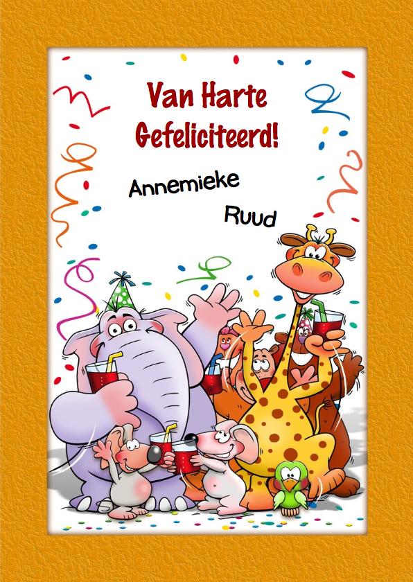 Grappige verjaardagskaart voor kind dat 7 jaar wordt 3