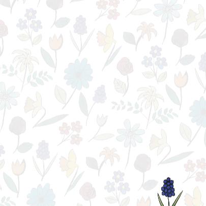 Grijze Aquarel Bloemen 3