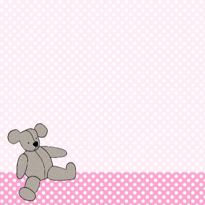 Grijze beer op roze stippen 3