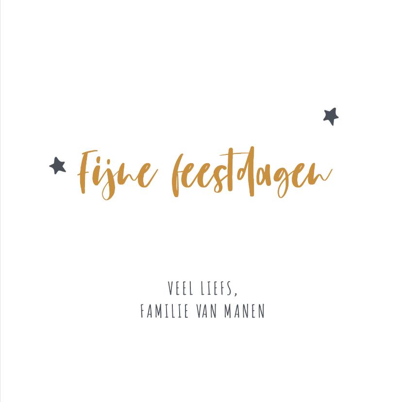 Grijze christelijke kerstkaart met gele letters en tekst 3