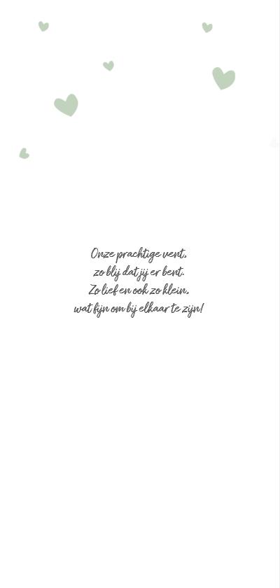 Groen kaartje met witte hartjes  2