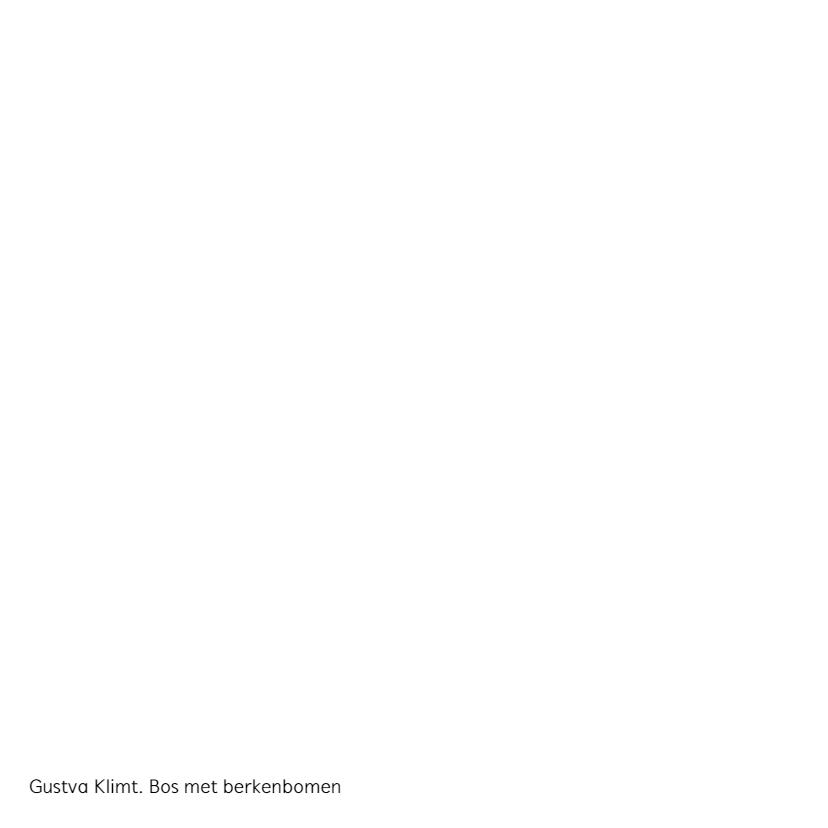 Gustav Klimt. Bos met berkenbomen 2