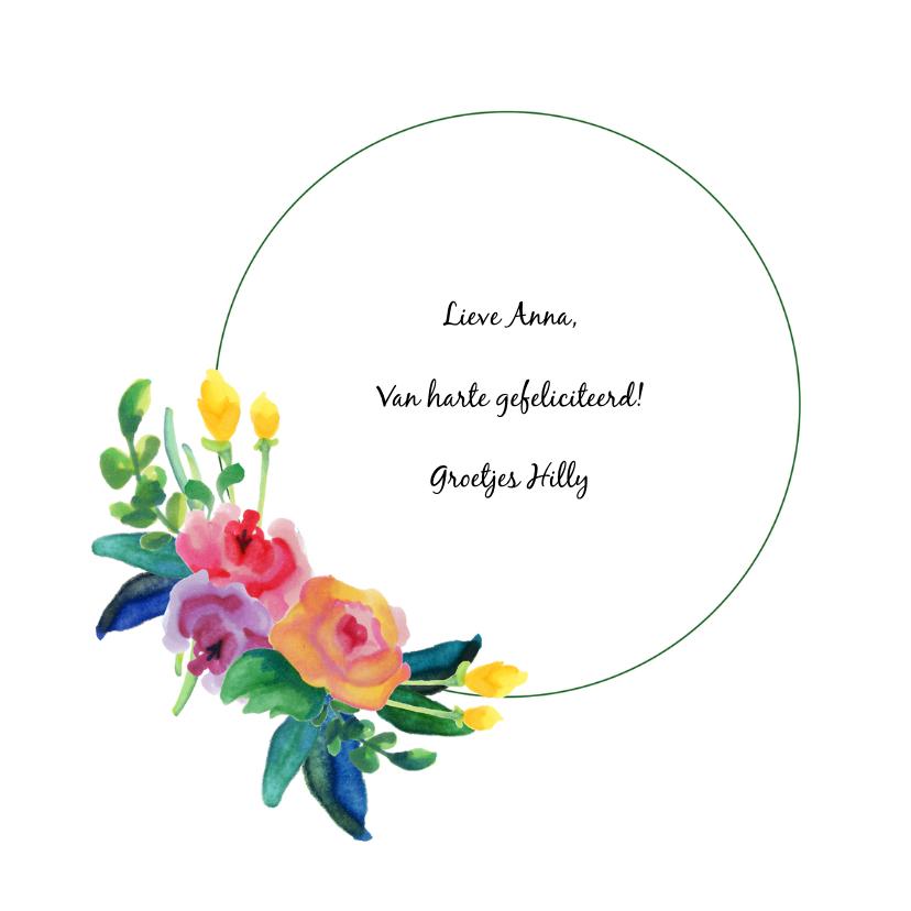 Habby B-Day met bloemen 3