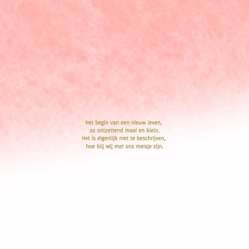 Hallo kaart waterverf roze - DH 2