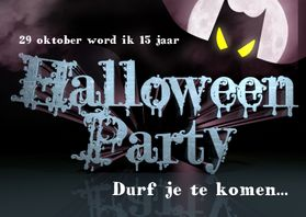 Halloween kaarten - HALLOWEEN PARTY uitnodiging