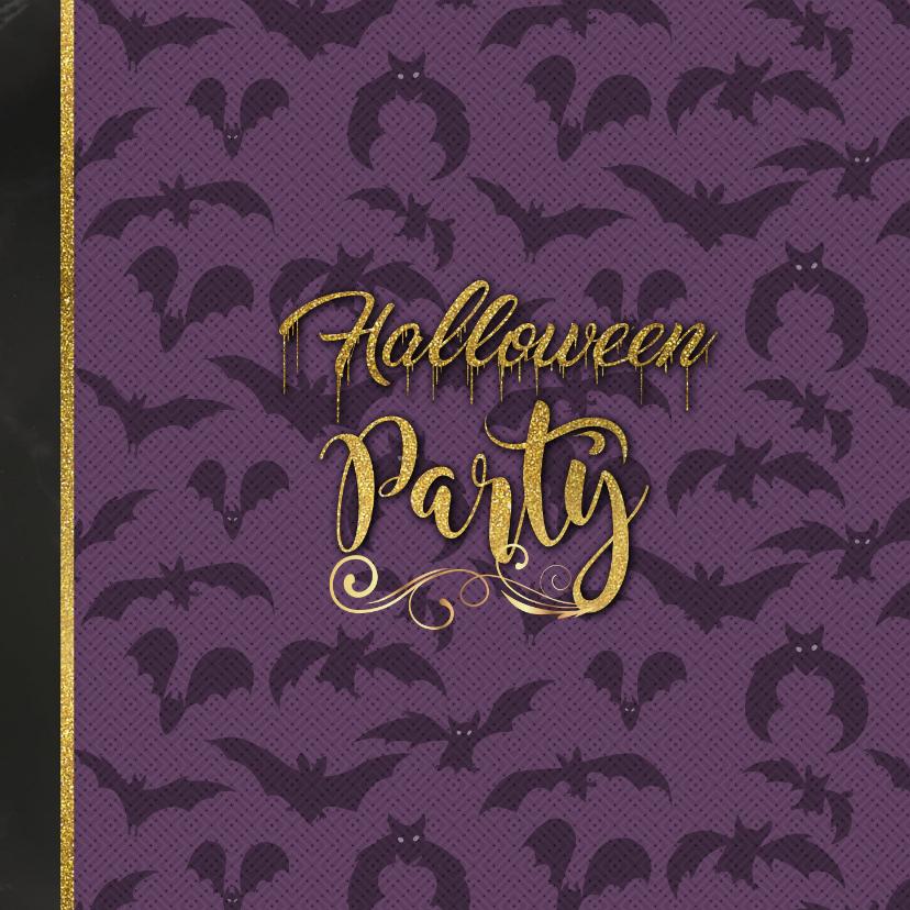 Halloween uitnodiging skelet en heks proosten 2