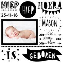 Geboortekaartjes - Handlettering geboortekaartje